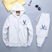 men sportswear louis vuitton tracksuits Tracksuit hooded cap blouson white